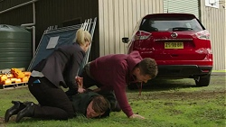 Ellen Crabb, Ari Philcox, Mark Brennan in Neighbours Episode 7447