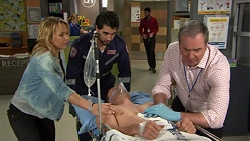 Steph Scully, Mark Brennan, Karl Kennedy in Neighbours Episode 7448