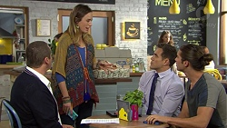 Toadie Rebecchi, Sonya Mitchell, Aaron Brennan, Tyler Brennan in Neighbours Episode 7448