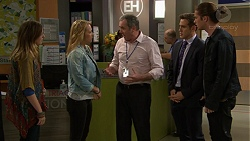 Sonya Mitchell, Steph Scully, Karl Kennedy, Aaron Brennan, Tyler Brennan in Neighbours Episode 7448