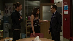 Tyler Brennan, Paige Novak, Aaron Brennan in Neighbours Episode 7448