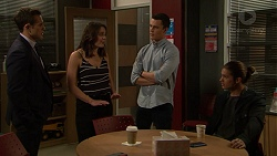 Aaron Brennan, Paige Novak, Jack Callaghan, Tyler Brennan in Neighbours Episode 7448