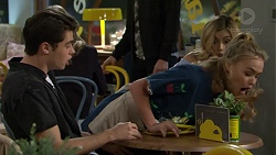 Ben Kirk, Xanthe Canning, Madison Robinson in Neighbours Episode 7449