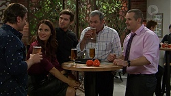 Brad Willis, Elly Conway, Ned Willis, Karl Kennedy, Toadie Rebecchi in Neighbours Episode 7450