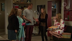Terese Willis, Sheila Canning, Gary Canning, Piper Willis, Xanthe Canning in Neighbours Episode 7451