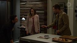 Aaron Brennan, Sonya Rebecchi, Mark Brennan in Neighbours Episode 7452