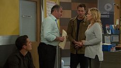 Aaron Brennan, Karl Kennedy, Mark Brennan, Steph Scully in Neighbours Episode 7453
