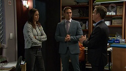 Angelina Jackson, Aaron Brennan, Paul Robinson in Neighbours Episode 7453