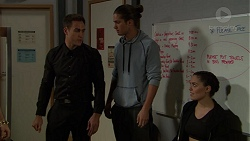 Aaron Brennan, Tyler Brennan, Paige Smith in Neighbours Episode 7453