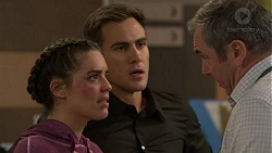 Paige Novak, Aaron Brennan, Karl Kennedy in Neighbours Episode 7454