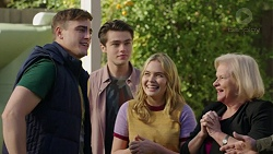 Kyle Canning, Ben Kirk, Xanthe Canning, Sheila Canning in Neighbours Episode 7455
