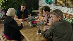 Sheila Canning, Kyle Canning, Xanthe Canning, Ben Kirk, Gary Canning in Neighbours Episode 7455