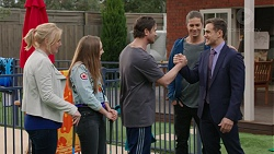 Lauren Turner, Piper Willis, Brad Willis, Tyler Brennan, Aaron Brennan in Neighbours Episode 7458