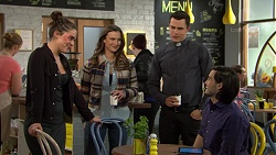 Paige Novak, Amy Williams, Jack Callaghan, David Tanaka in Neighbours Episode 7458