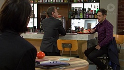 Leo Tanaka, Paul Robinson, Aaron Brennan in Neighbours Episode 7459