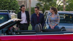 Leo Tanaka, Aaron Brennan, Amy Williams in Neighbours Episode 7459