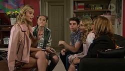 Madison Robinson, Piper Willis, Ben Kirk, Xanthe Canning, Terese Willis in Neighbours Episode 7460