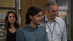 Paige Smith, David Tanaka, Karl Kennedy in Neighbours Episode 7460