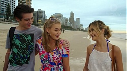 Ben Kirk, Xanthe Canning, Madison Robinson in Neighbours Episode 7461