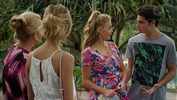 Lucy Robinson, Madison Robinson, Xanthe Canning, Ben Kirk in Neighbours Episode 7461
