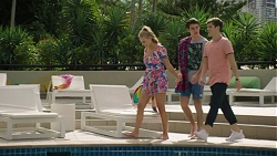 Xanthe Canning, Ben Kirk, Angus Beaumont-Hannay in Neighbours Episode 7462