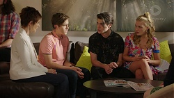 Susan Kennedy, Angus Beaumont-Hannay, Ben Kirk, Xanthe Canning in Neighbours Episode 7462