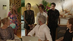Xanthe Canning, Madison Robinson, Ken Giles, Susan Kennedy, Ben Kirk, Clara Winter in Neighbours Episode 7462