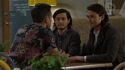 Aaron Brennan, David Tanaka, Leo Tanaka in Neighbours Episode 7463