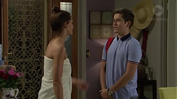 Elly Conway, Angus Beaumont-Hannay in Neighbours Episode 7463
