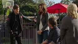 Ned Willis, Elly Conway, Brad Willis, Lauren Turner in Neighbours Episode 7464