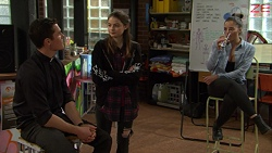 Jack Callahan, Nikki Jackson, Paige Smith in Neighbours Episode 7465
