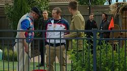 Karl Kennedy, Tyler Brennan, Toadie Rebecchi, Mark Brennan, Ned Willis, Brad Willis in Neighbours Episode 7466