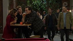 Elly Conway, Ned Willis, Jacka Hills, Brad Willis, Mark Brennan in Neighbours Episode 7466