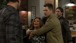 Jacka Hills, Terese Willis, Mark Brennan, Brad Willis in Neighbours Episode 7467