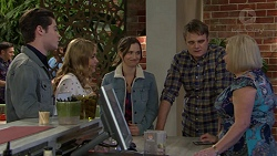 Ben Kirk, Xanthe Canning, Amy Williams, Gary Canning, Sheila Canning in Neighbours Episode 7469