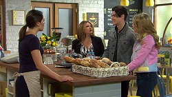 Paige Smith, Terese Willis, Ben Kirk, Xanthe Canning in Neighbours Episode 7469