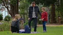 Steph Scully, Lucas Fitzgerald, Adam Fitzgerald in Neighbours Episode 7470