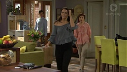 Angus Beaumont-Hannay, Elly Conway, Susan Kennedy in Neighbours Episode 7470