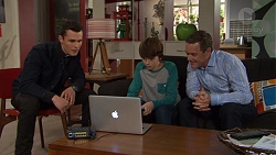 Jack Callaghan, Jimmy Williams, Paul Robinson in Neighbours Episode 7472