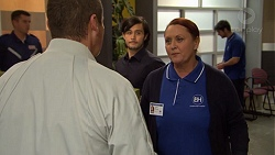 Toadie Rebecchi, David Tanaka, Eve Fisher in Neighbours Episode 7473
