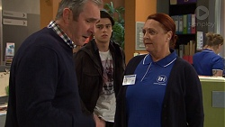 Karl Kennedy, Ben Kirk, Eve Fisher in Neighbours Episode 7473