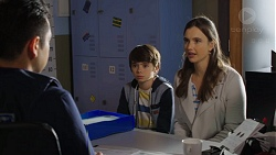 Constable Miles Doughty, Jimmy Williams, Amy Williams in Neighbours Episode 7474