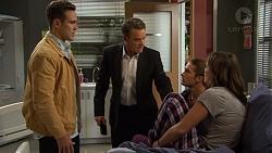 Aaron Brennan, Mark Brennan, Tyler Brennan, Paige Novak in Neighbours Episode 7474