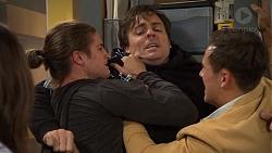 Tyler Brennan, Jacka Hills, Aaron Brennan in Neighbours Episode 7474