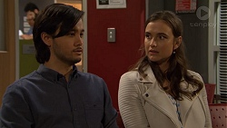 David Tanaka, Amy Williams in Neighbours Episode 7474