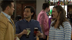Aaron Brennan, David Tanaka, Amy Williams in Neighbours Episode 7475