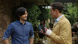 David Tanaka, Aaron Brennan in Neighbours Episode 7475