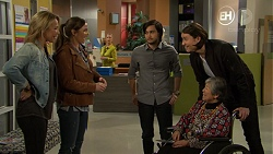 Steph Scully, Amy Williams, David Tanaka, Leo Tanaka, Kazuko Sano in Neighbours Episode 7478