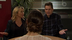 Steph Scully, Victoria Lamb, Mark Brennan in Neighbours Episode 7479