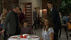 Paul Robinson, Jimmy Williams, Amy Williams, Leo Tanaka in Neighbours Episode 7481